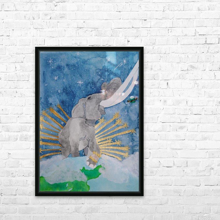 King of the world HD Sublimation Metal print with Decorating Float Frame (BOX)