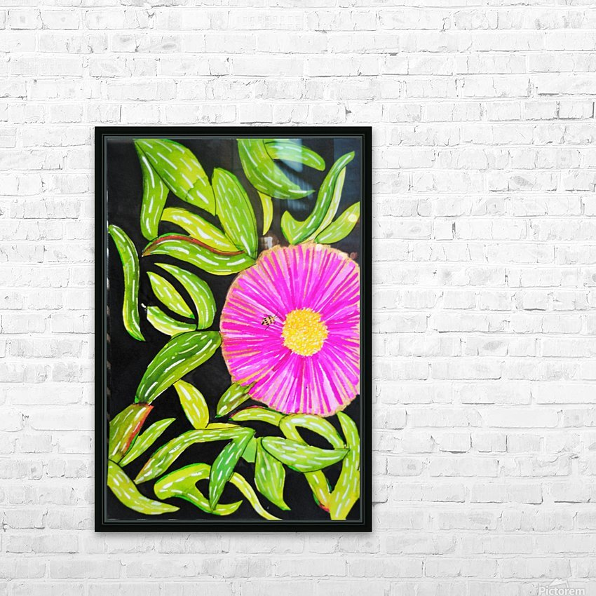 Coastal Flower HD Sublimation Metal print with Decorating Float Frame (BOX)