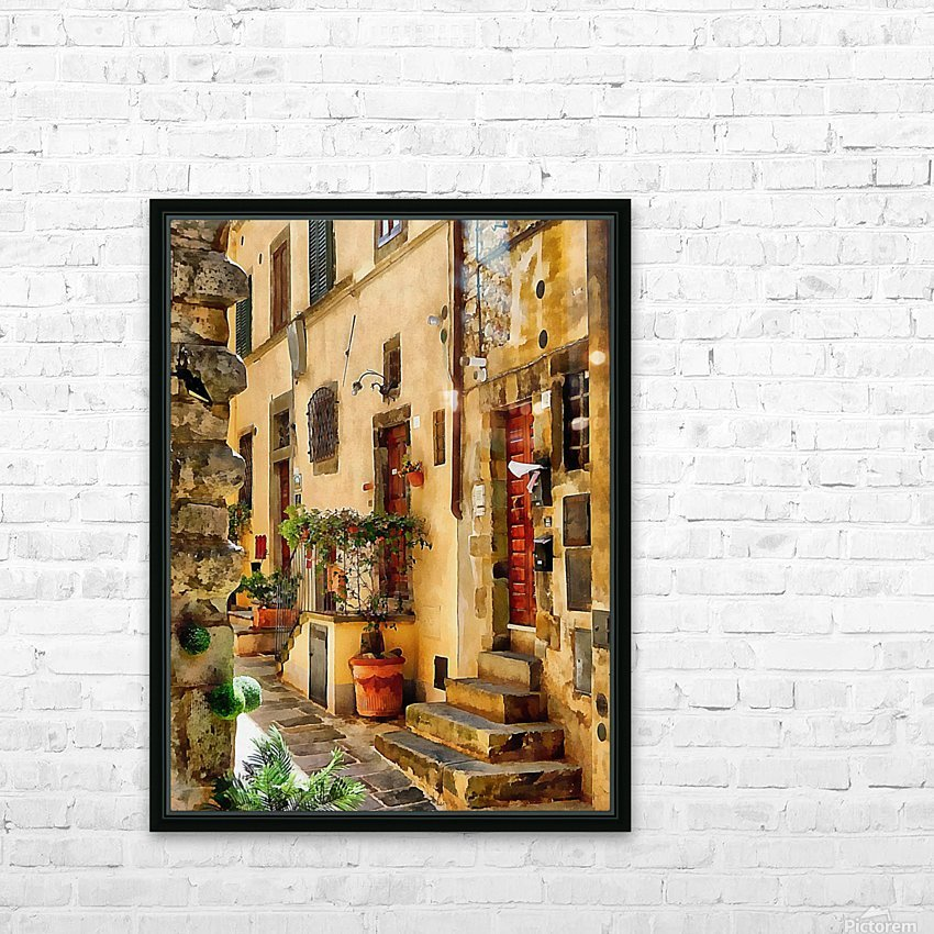 Around The Corner in Cortona HD Sublimation Metal print with Decorating Float Frame (BOX)