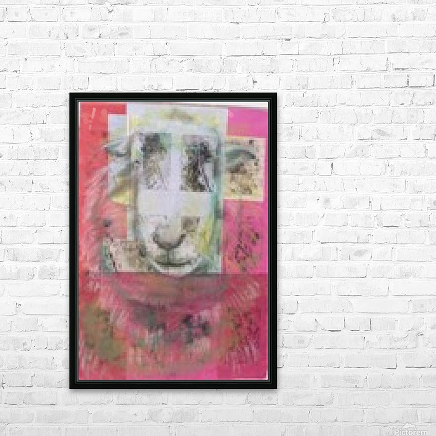 sheep face HD Sublimation Metal print with Decorating Float Frame (BOX)