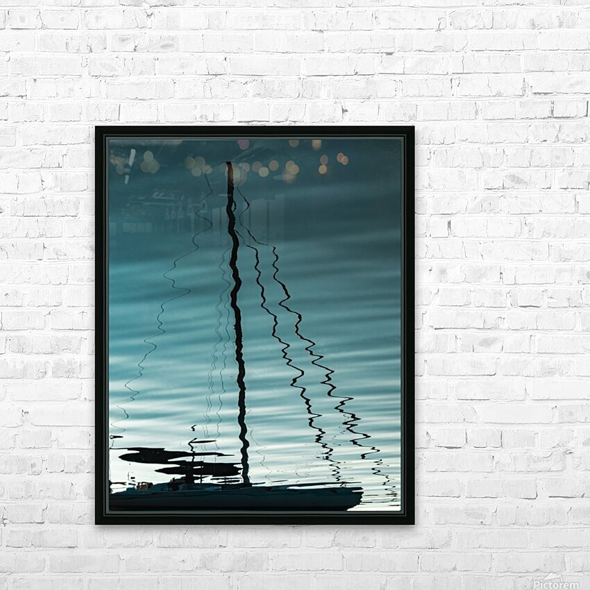 Sailboat Ripples HD Sublimation Metal print with Decorating Float Frame (BOX)