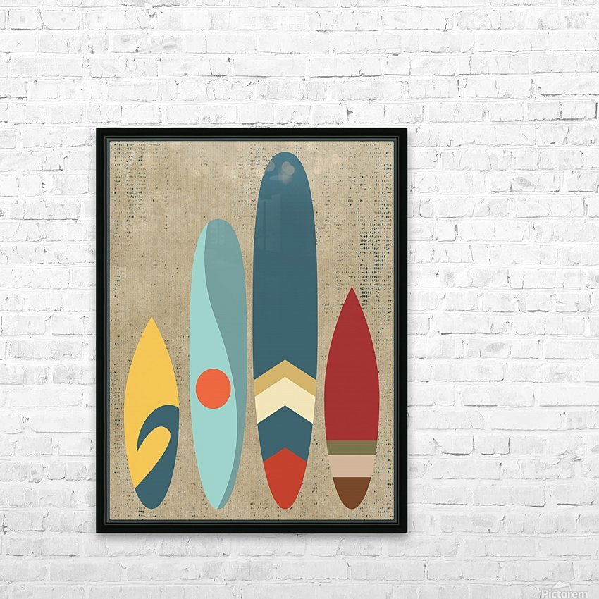 New day new waves HD Sublimation Metal print with Decorating Float Frame (BOX)