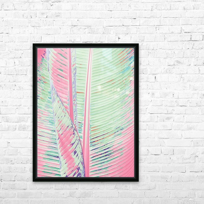 Flamingo and banana HD Sublimation Metal print with Decorating Float Frame (BOX)
