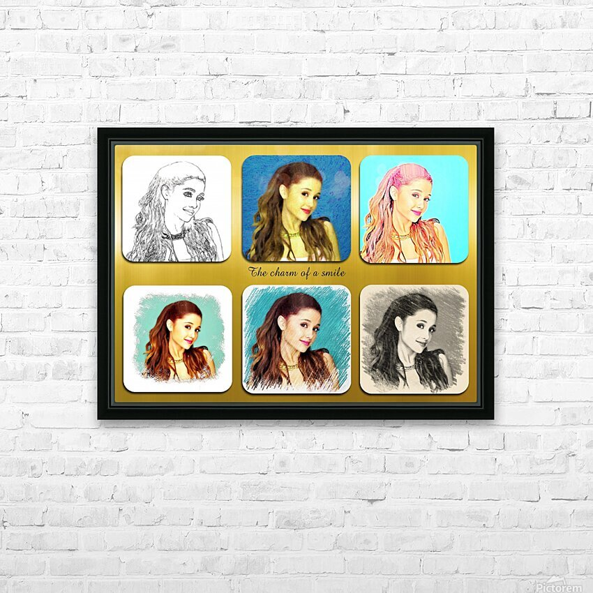 Ariana Grande pop star celebrity singer HD Sublimation Metal print with Decorating Float Frame (BOX)