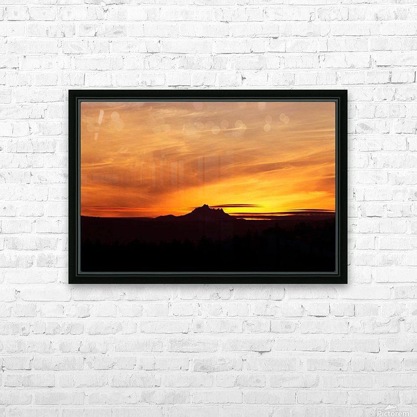 Central Oregon Sunset HD Sublimation Metal print with Decorating Float Frame (BOX)