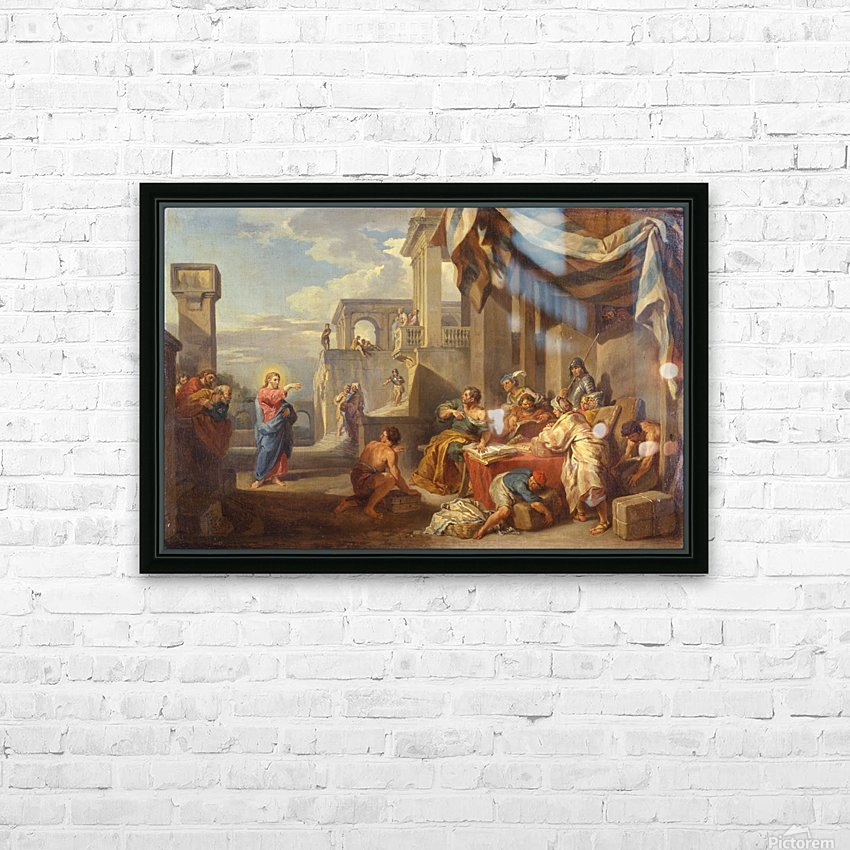 The Calling of Saint Matthew HD Sublimation Metal print with Decorating Float Frame (BOX)