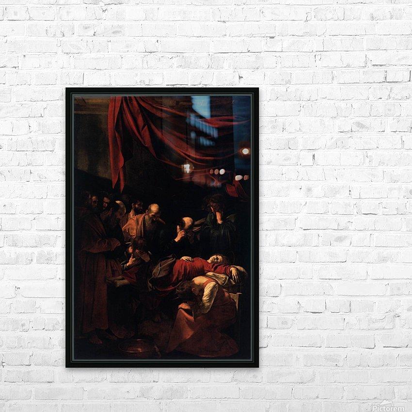 Morte della Vergine HD Sublimation Metal print with Decorating Float Frame (BOX)