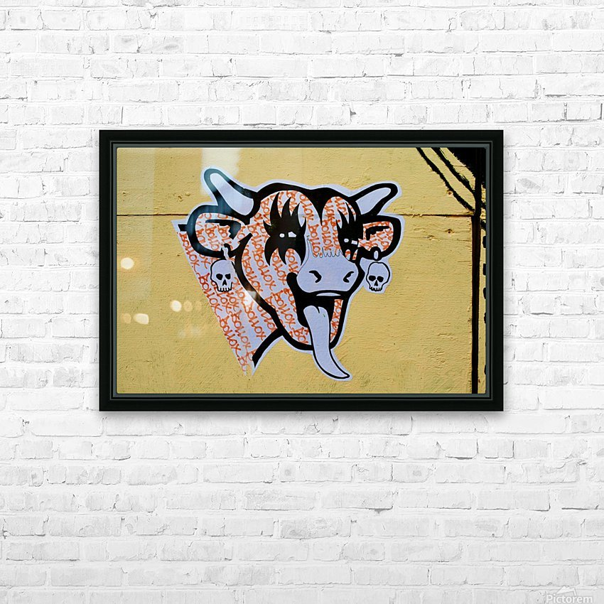 Demon Laughing Cow HD Sublimation Metal print with Decorating Float Frame (BOX)