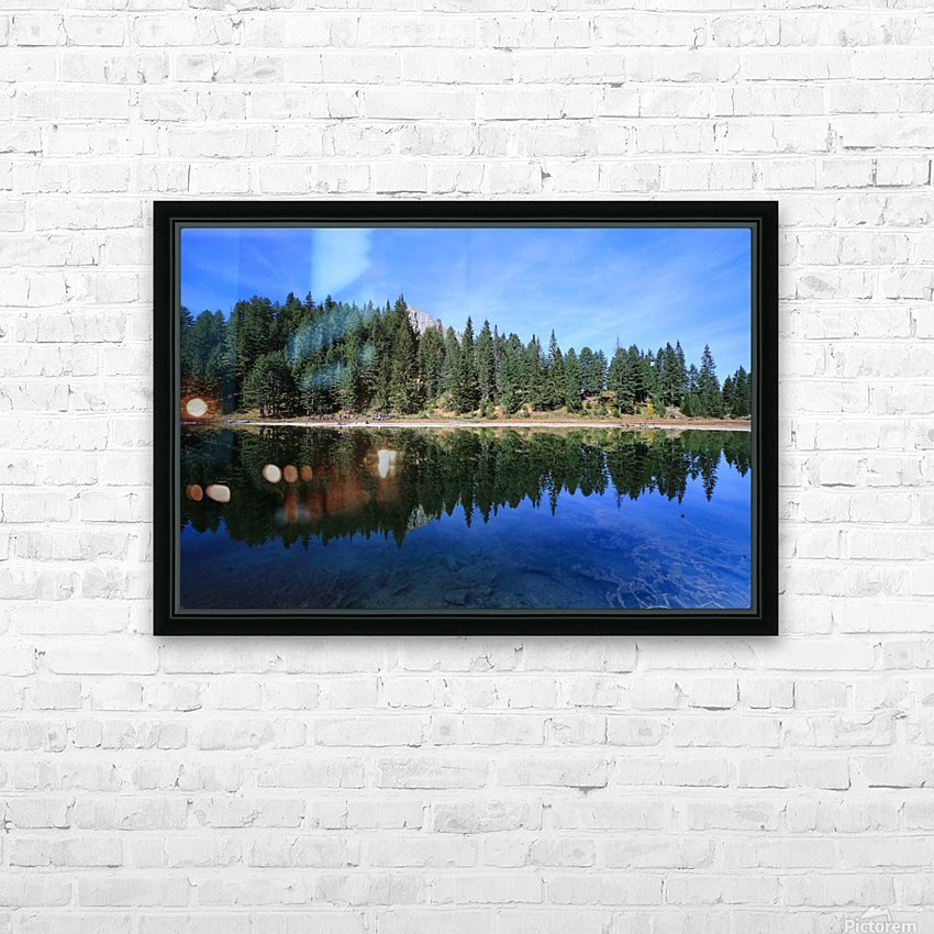 Lake Reflection HD Sublimation Metal print with Decorating Float Frame (BOX)