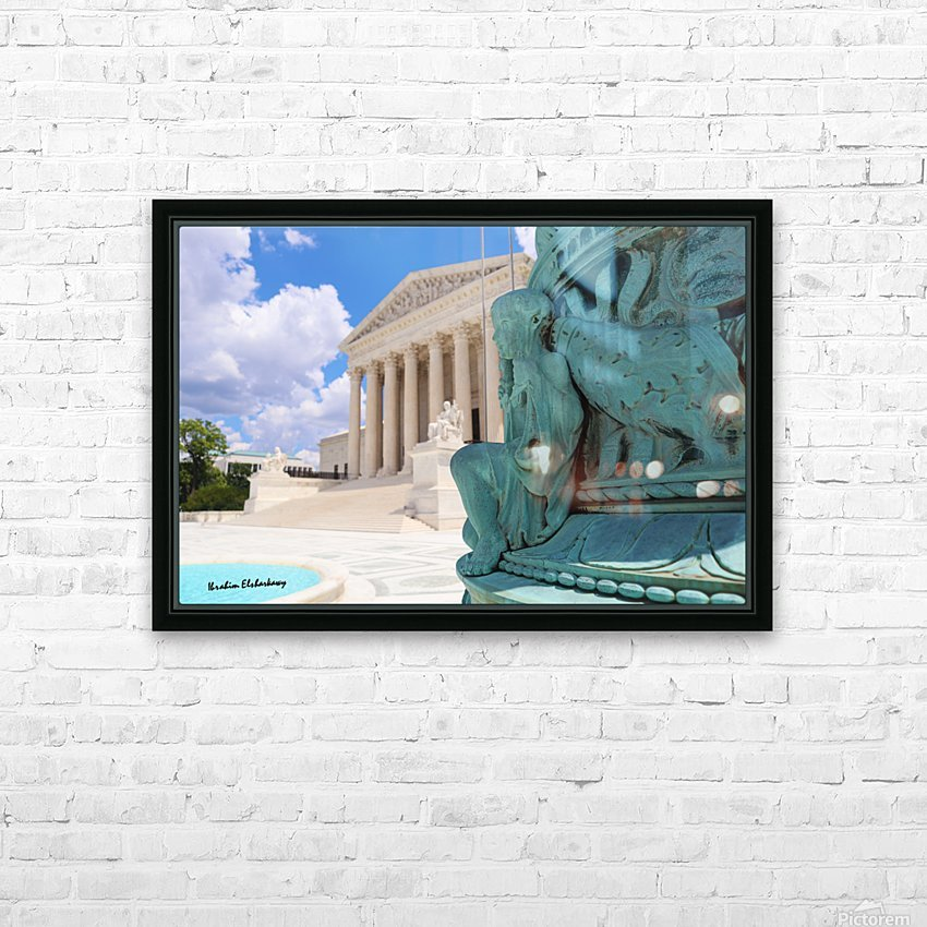 Washington DC Supreme court and Statue HD Sublimation Metal print with Decorating Float Frame (BOX)