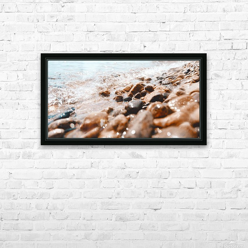 Pebbles and Ripples HD Sublimation Metal print with Decorating Float Frame (BOX)