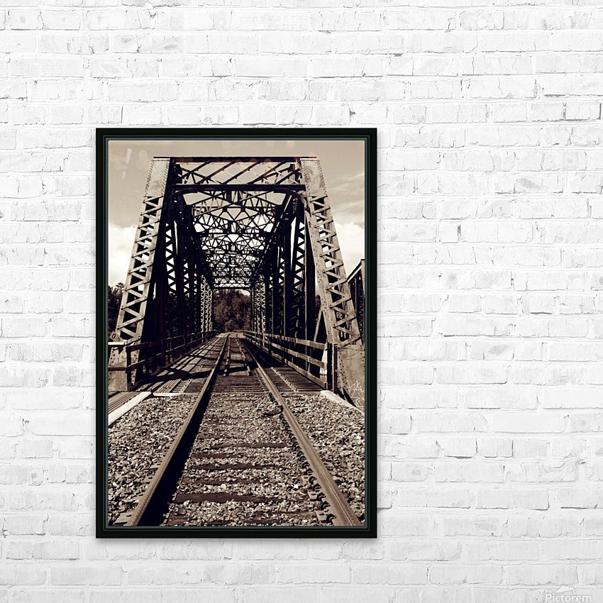 Over the Bridge HD Sublimation Metal print with Decorating Float Frame (BOX)