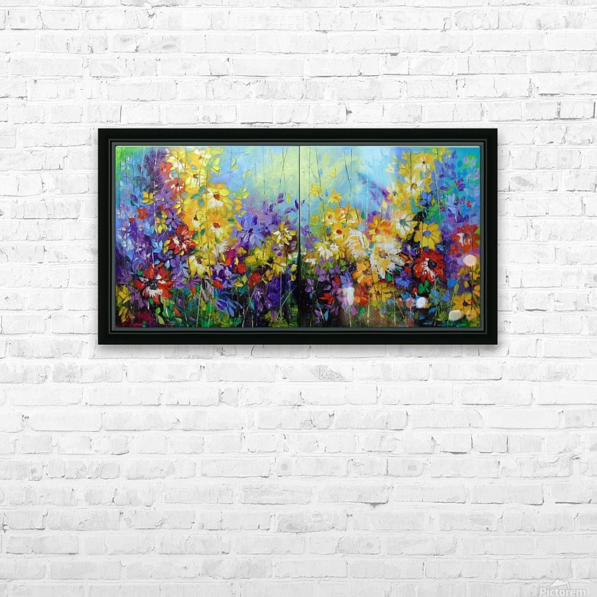 Bright melody  HD Sublimation Metal print with Decorating Float Frame (BOX)