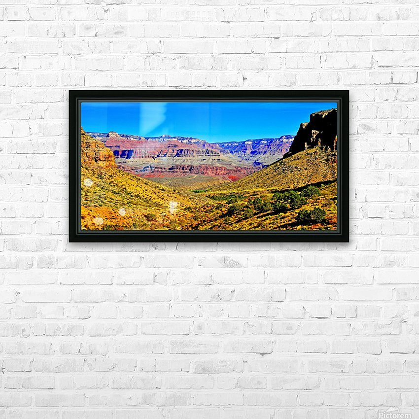 Grand Canyon  Bright Angel Trail 15 HD Sublimation Metal print with Decorating Float Frame (BOX)