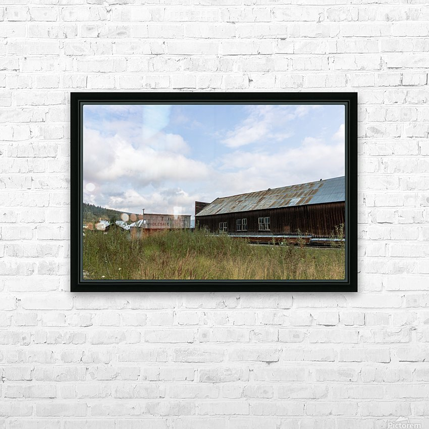 Dawson City, YT   19 HD Sublimation Metal print with Decorating Float Frame (BOX)
