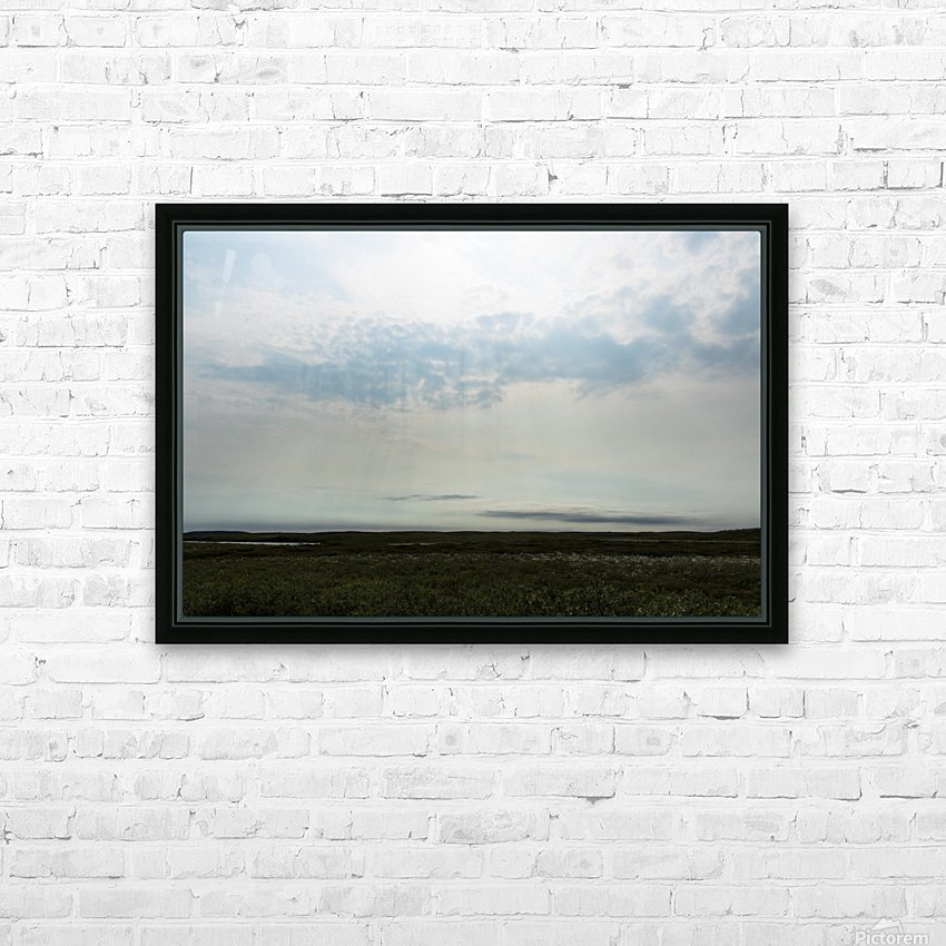 Bright sky in Tuktoyaktuk HD Sublimation Metal print with Decorating Float Frame (BOX)
