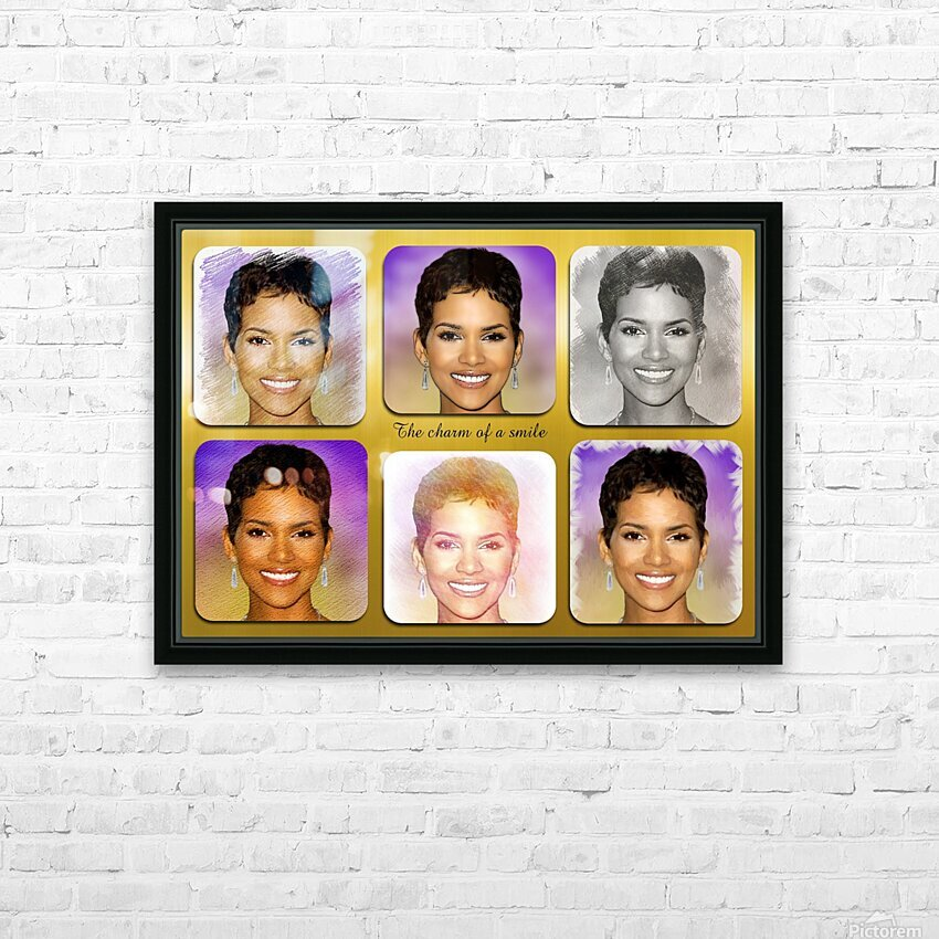 Halle Berry pop star celebrity  HD Sublimation Metal print with Decorating Float Frame (BOX)
