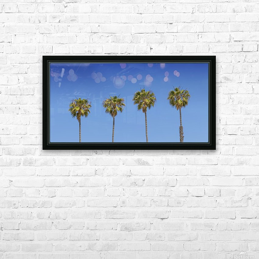 Lovely Palm Trees | Panorama HD Sublimation Metal print with Decorating Float Frame (BOX)