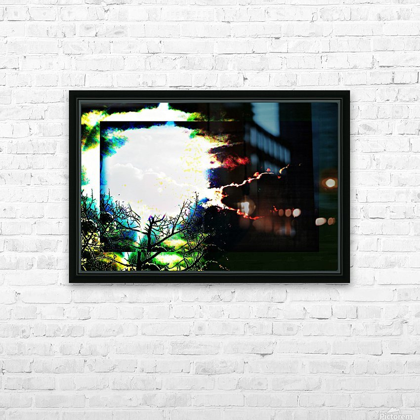 Dark Sun HD Sublimation Metal print with Decorating Float Frame (BOX)