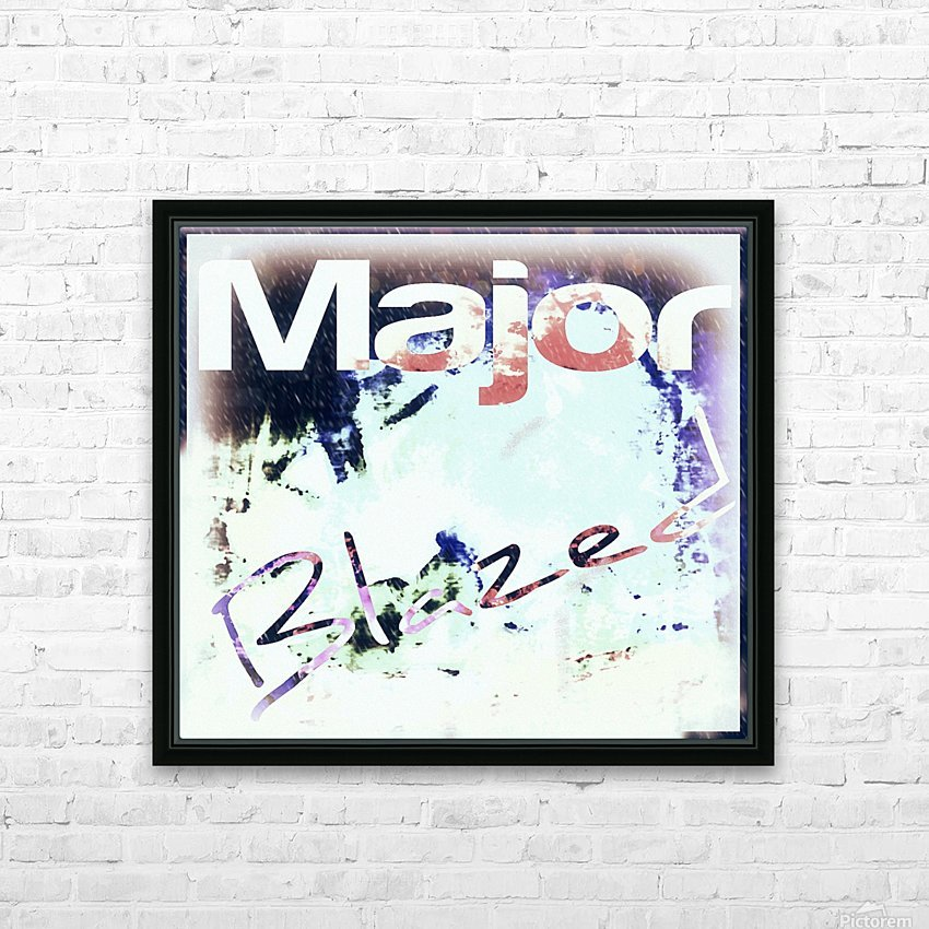 MajorBlazed SnowCO HD Sublimation Metal print with Decorating Float Frame (BOX)