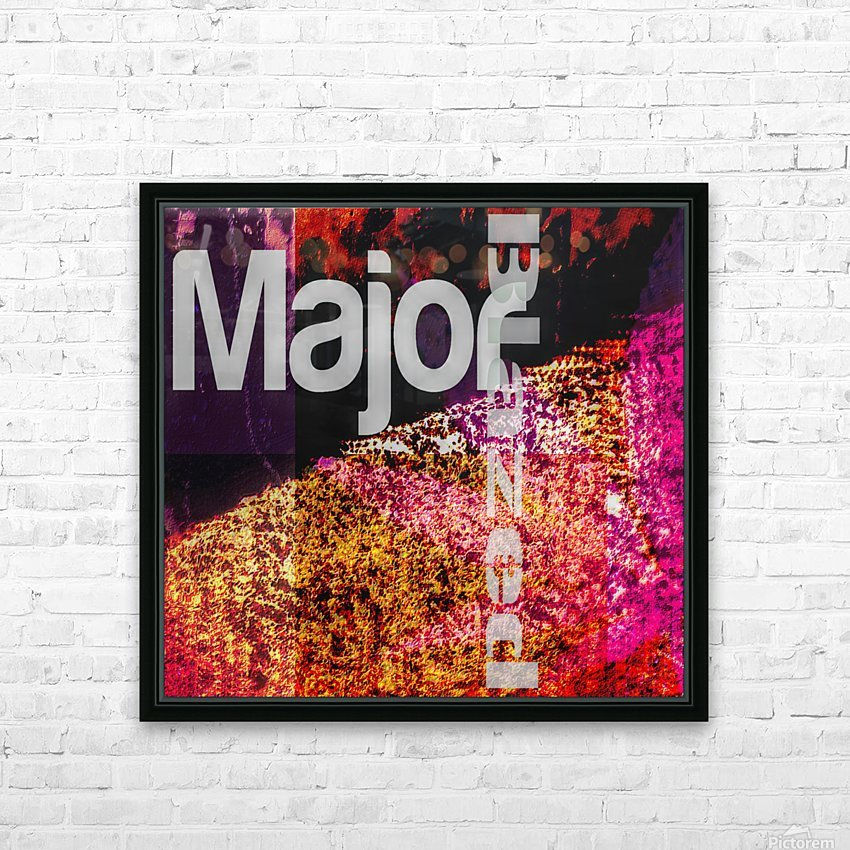 MajorBlazed Pink Fields HD Sublimation Metal print with Decorating Float Frame (BOX)