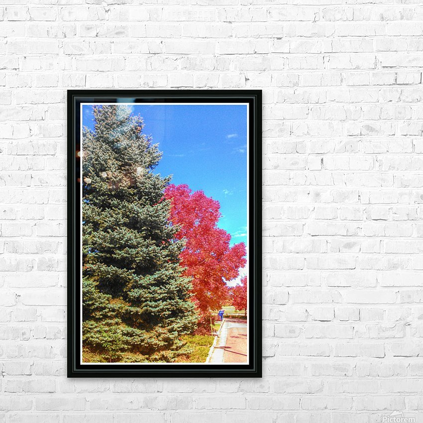Out-side HD Sublimation Metal print with Decorating Float Frame (BOX)