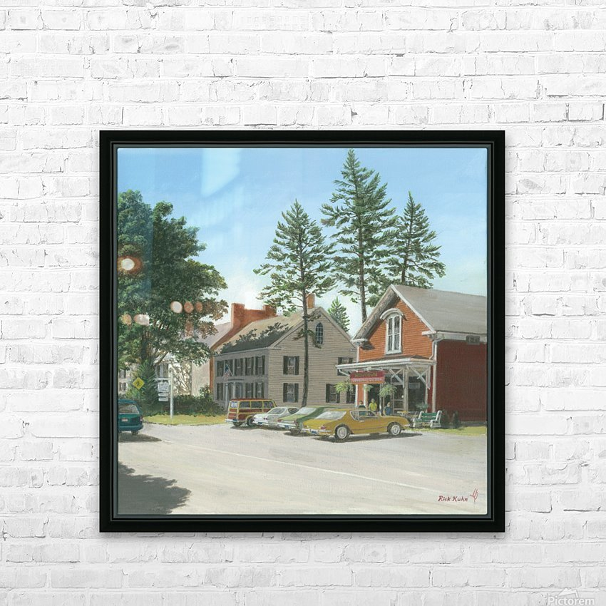 The General Store - Newtown Scenes 16X16 HD Sublimation Metal print with Decorating Float Frame (BOX)