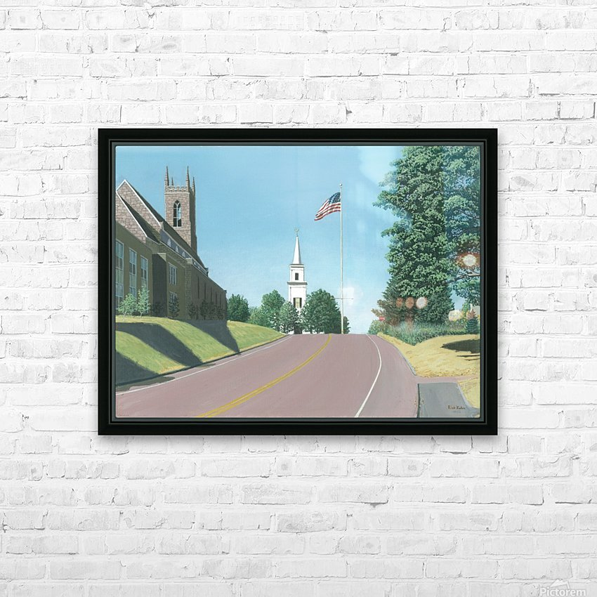 Church Hill Road - Newtown Scenes 16X20 HD Sublimation Metal print with Decorating Float Frame (BOX)