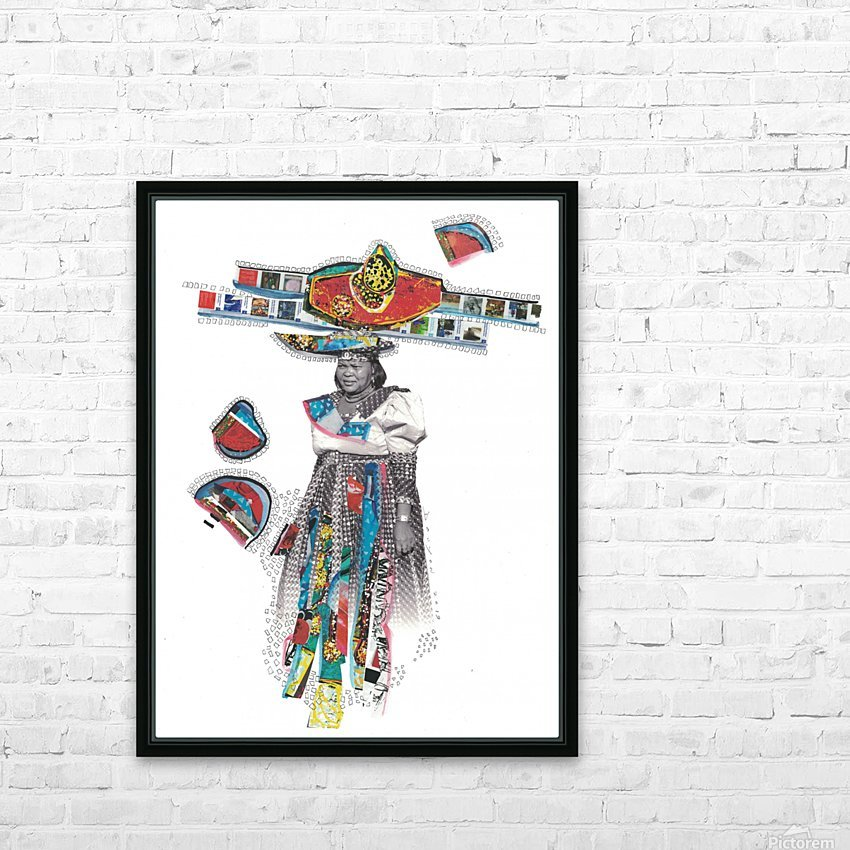 Herero Woman 7 HD Sublimation Metal print with Decorating Float Frame (BOX)