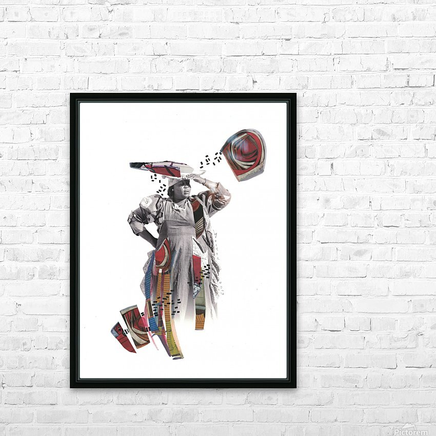 Herero woman 1 HD Sublimation Metal print with Decorating Float Frame (BOX)