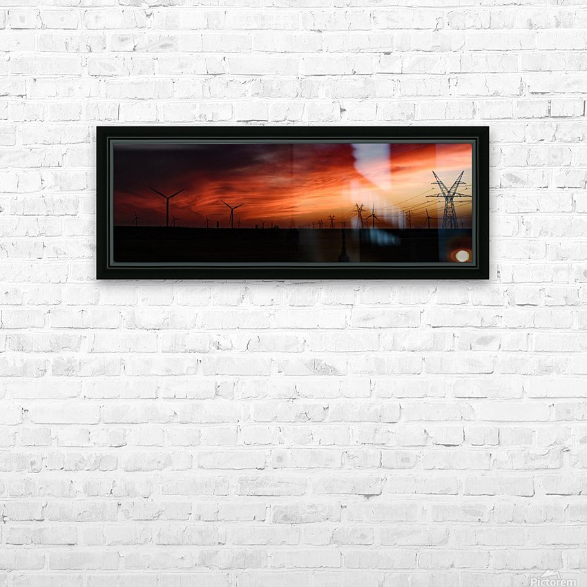 Texas Smoke HD Sublimation Metal print with Decorating Float Frame (BOX)