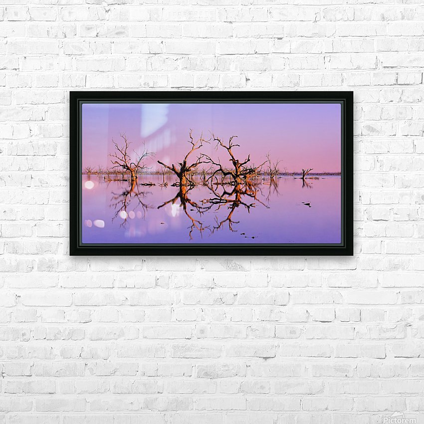 Twin Reflections - Pamamaroo Lake HD Sublimation Metal print with Decorating Float Frame (BOX)