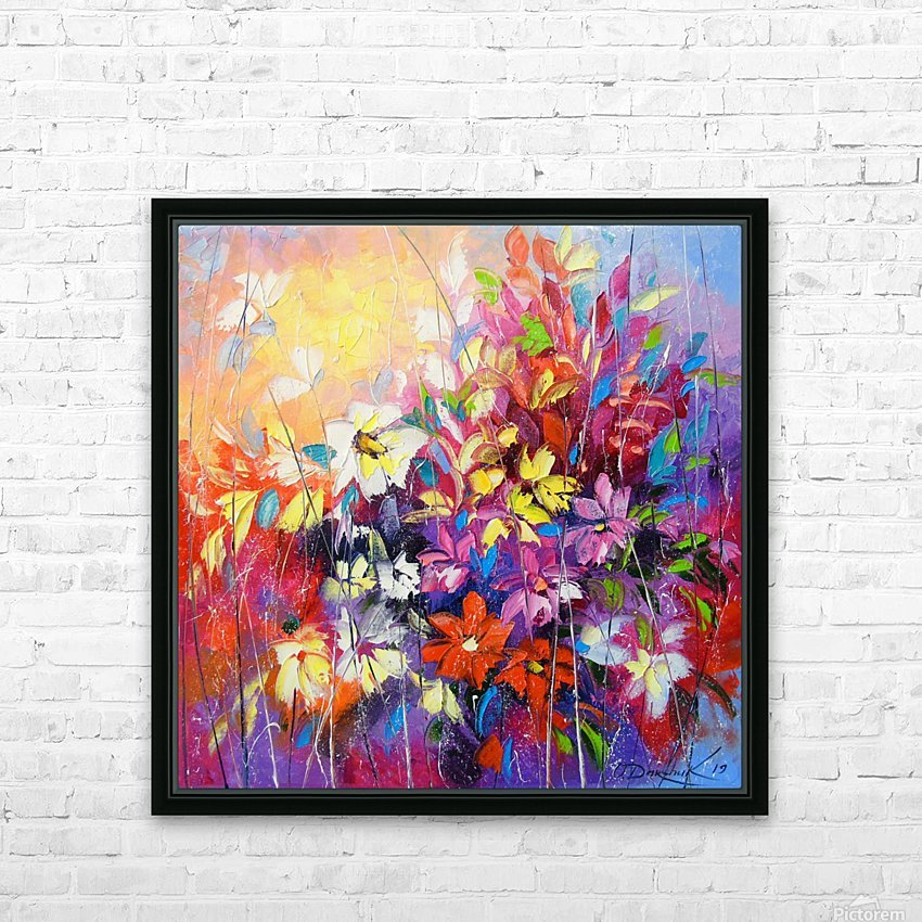Dance of flowers HD Sublimation Metal print with Decorating Float Frame (BOX)