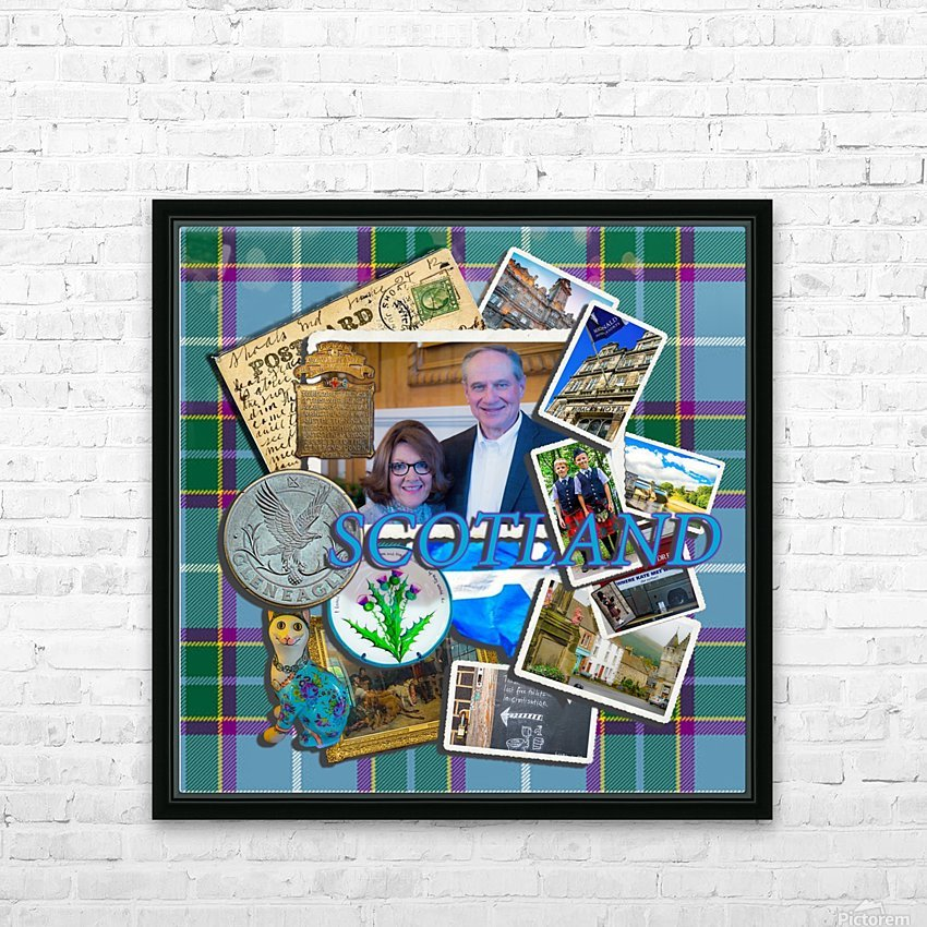 Scotland 2016 HD Sublimation Metal print with Decorating Float Frame (BOX)