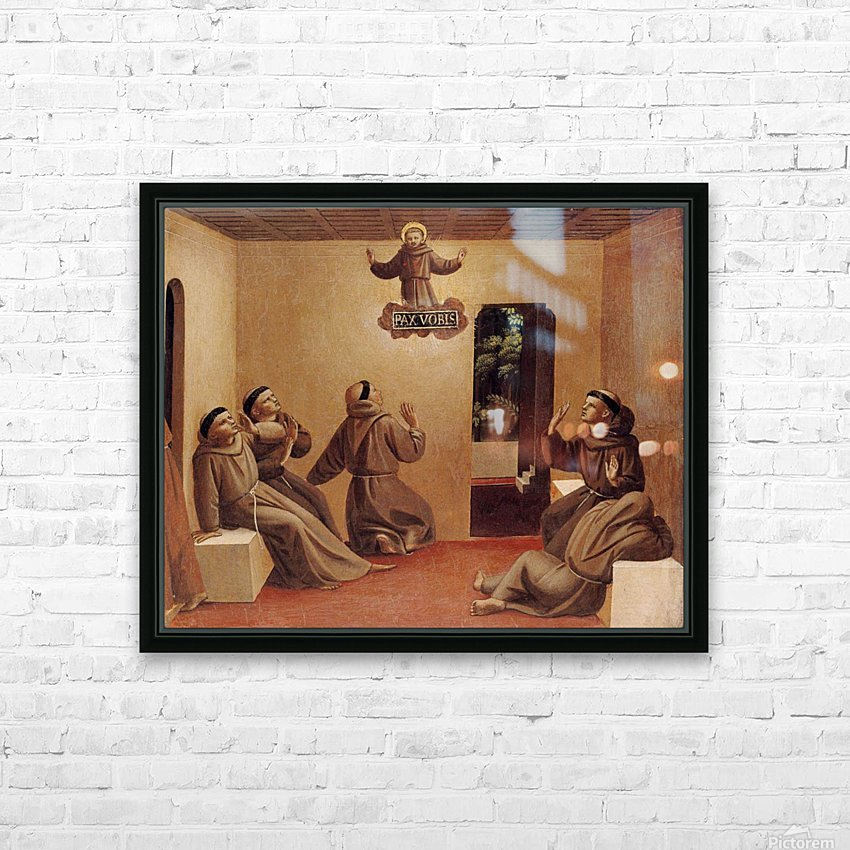 Apparition of St. Francis at Arles HD Sublimation Metal print with Decorating Float Frame (BOX)
