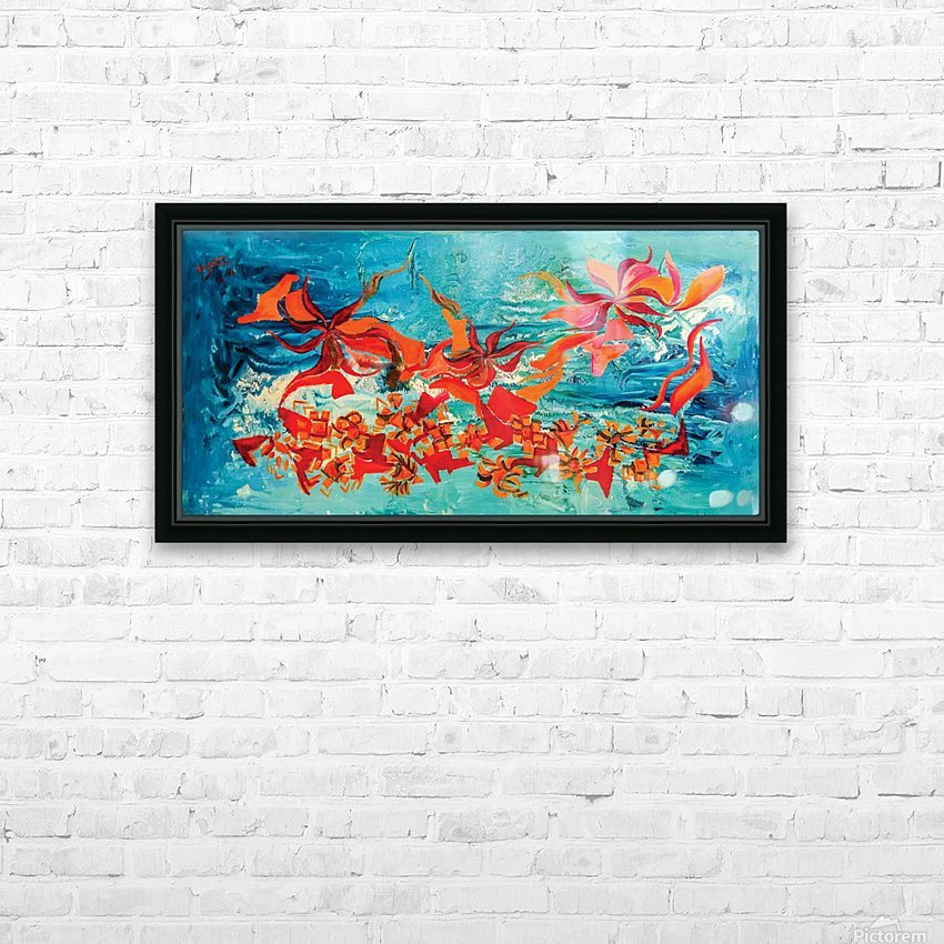 corals HD Sublimation Metal print with Decorating Float Frame (BOX)