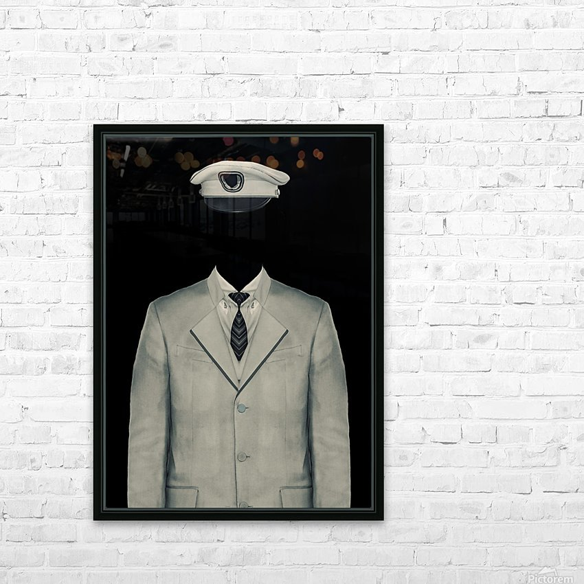 Surreal Officer Man Portrait HD Sublimation Metal print with Decorating Float Frame (BOX)