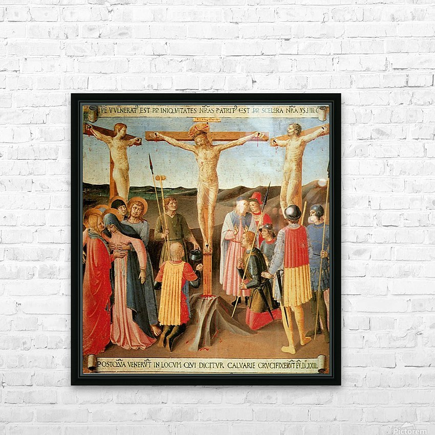 Armadio degli Argenti, Crucifixion HD Sublimation Metal print with Decorating Float Frame (BOX)