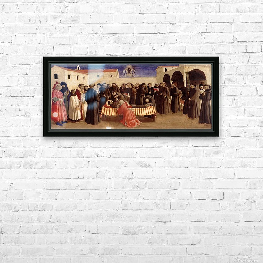 Lamentation over St. Francis HD Sublimation Metal print with Decorating Float Frame (BOX)