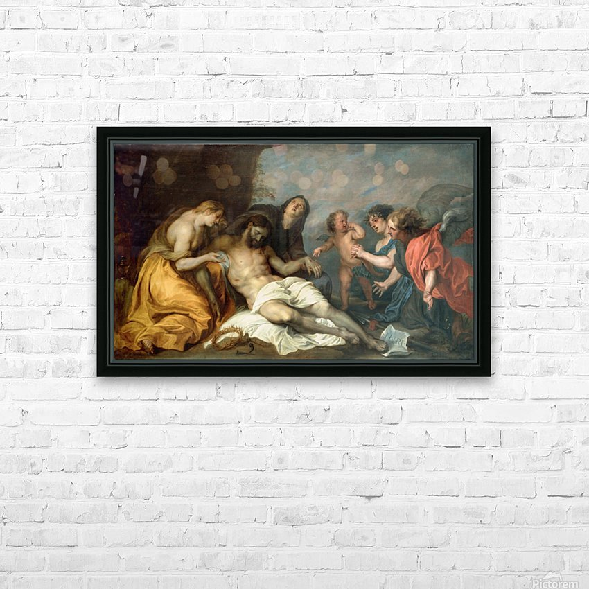 Lamentation over the Dead Christ HD Sublimation Metal print with Decorating Float Frame (BOX)