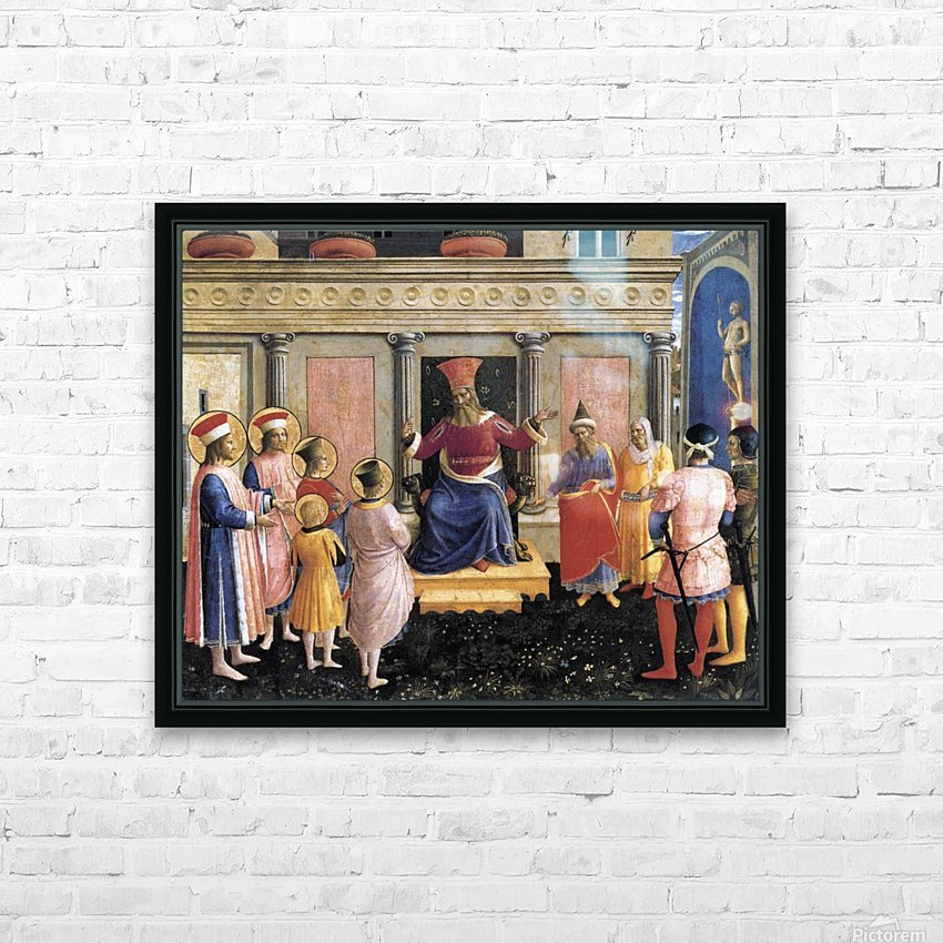 Saint Cosmas and Saint Damian before lisius HD Sublimation Metal print with Decorating Float Frame (BOX)