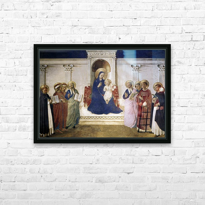 Sacred Conversation HD Sublimation Metal print with Decorating Float Frame (BOX)
