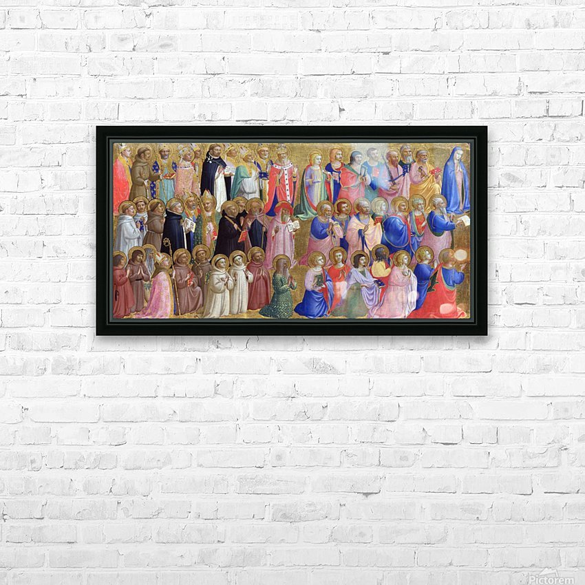 The Virgin Mary with the Apostles and Saints HD Sublimation Metal print with Decorating Float Frame (BOX)