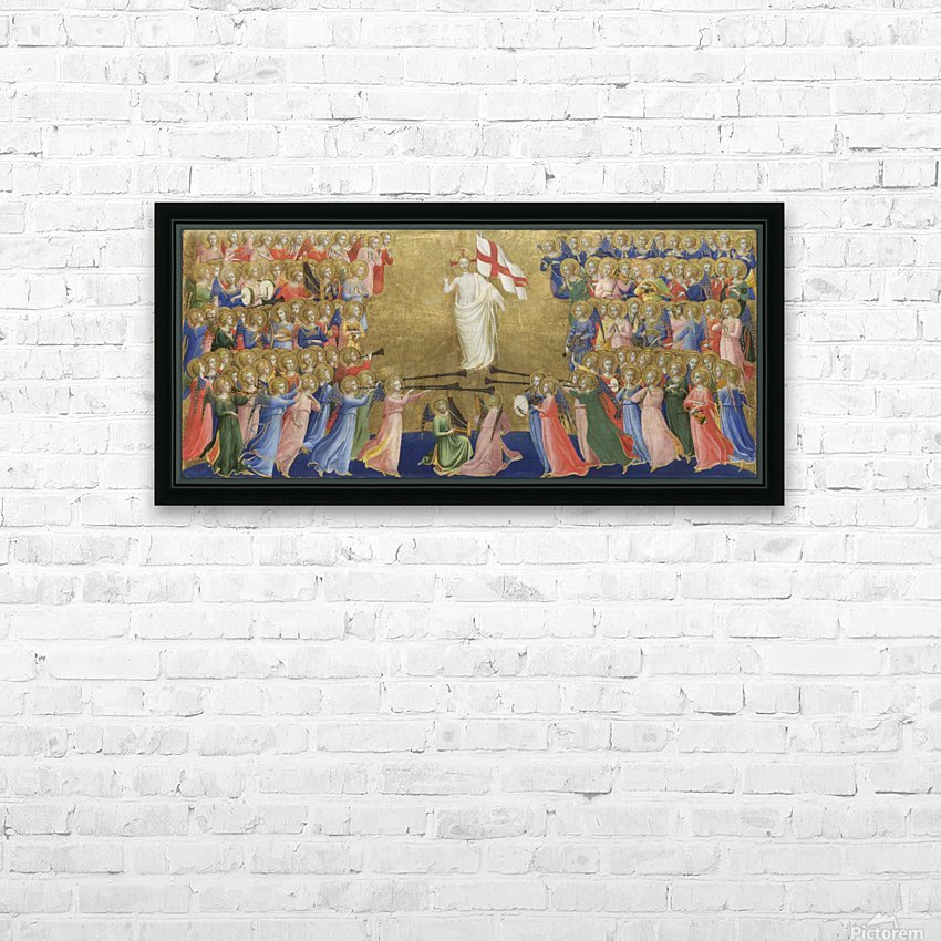 Christ Glorified In The Court Of Heaven HD Sublimation Metal print with Decorating Float Frame (BOX)