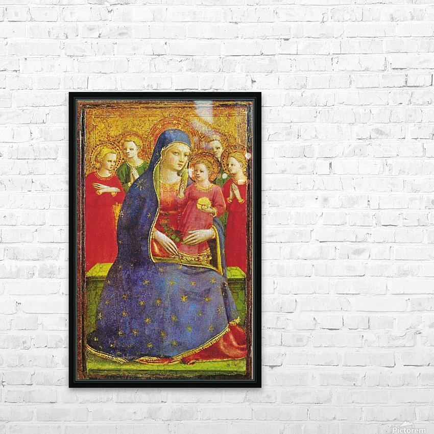 Virgin with the child and four angels HD Sublimation Metal print with Decorating Float Frame (BOX)