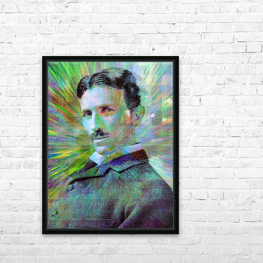 Electric Tesla HD Sublimation Metal print with Decorating Float Frame (BOX)