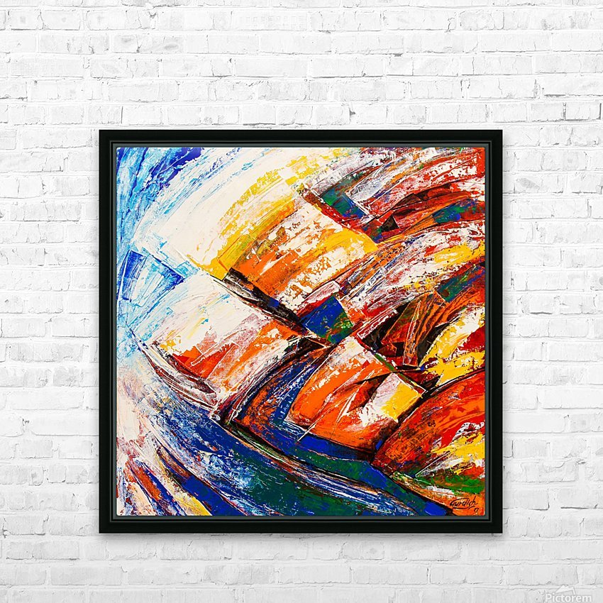 FLOW OF DREAMS_7 - 18x18 HD Sublimation Metal print with Decorating Float Frame (BOX)