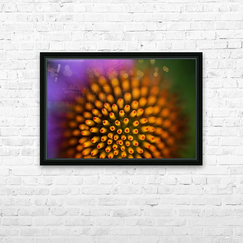 Flower Abstract HD Sublimation Metal print with Decorating Float Frame (BOX)