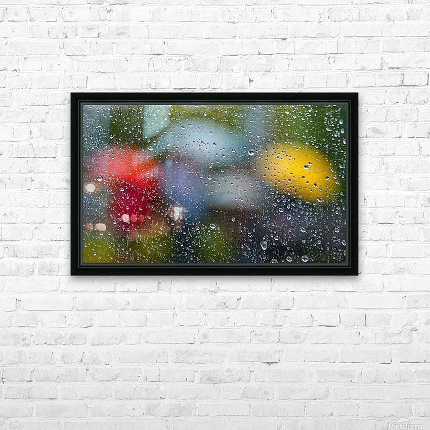 Summer Rain HD Sublimation Metal print with Decorating Float Frame (BOX)