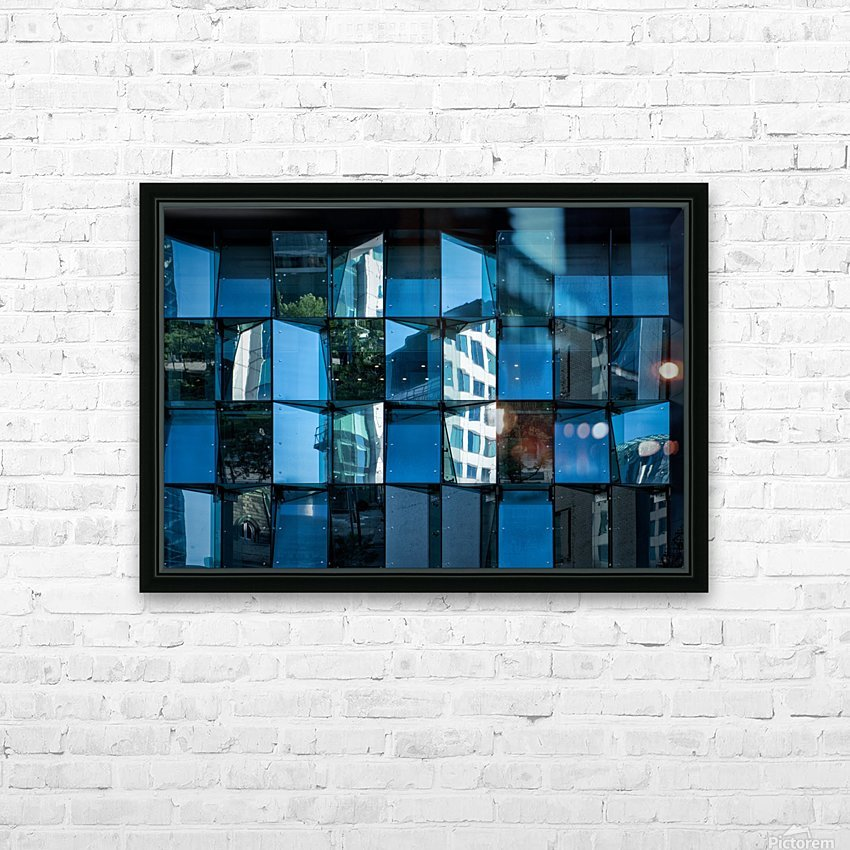 Blue Mirrors HD Sublimation Metal print with Decorating Float Frame (BOX)